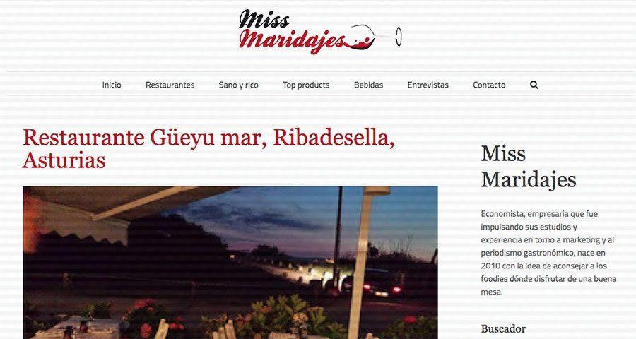 Restaurante Güeyu mar, Ribadesella, Asturias