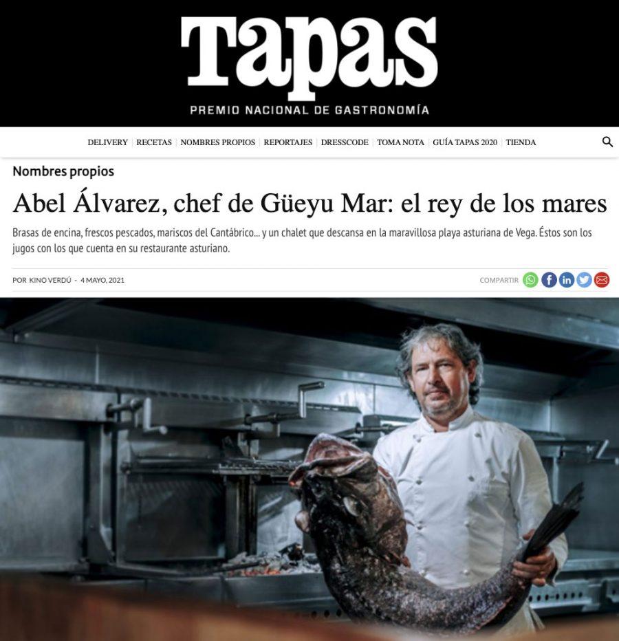 Abel Álvarez, chef de Güeyu Mar: el rey de los mares